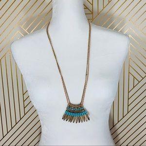 Jewelry - Gold Leaf Boho Necklace